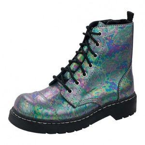 Oil slick tuk combat boots
